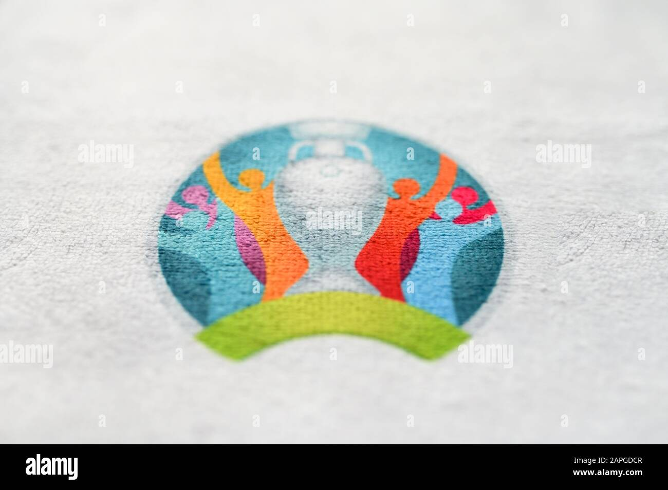 euro logo high resolution stock photography and images alamy https www alamy com madrid spain april 25 2020 euro 2020 official logo white edit space image340881207 html