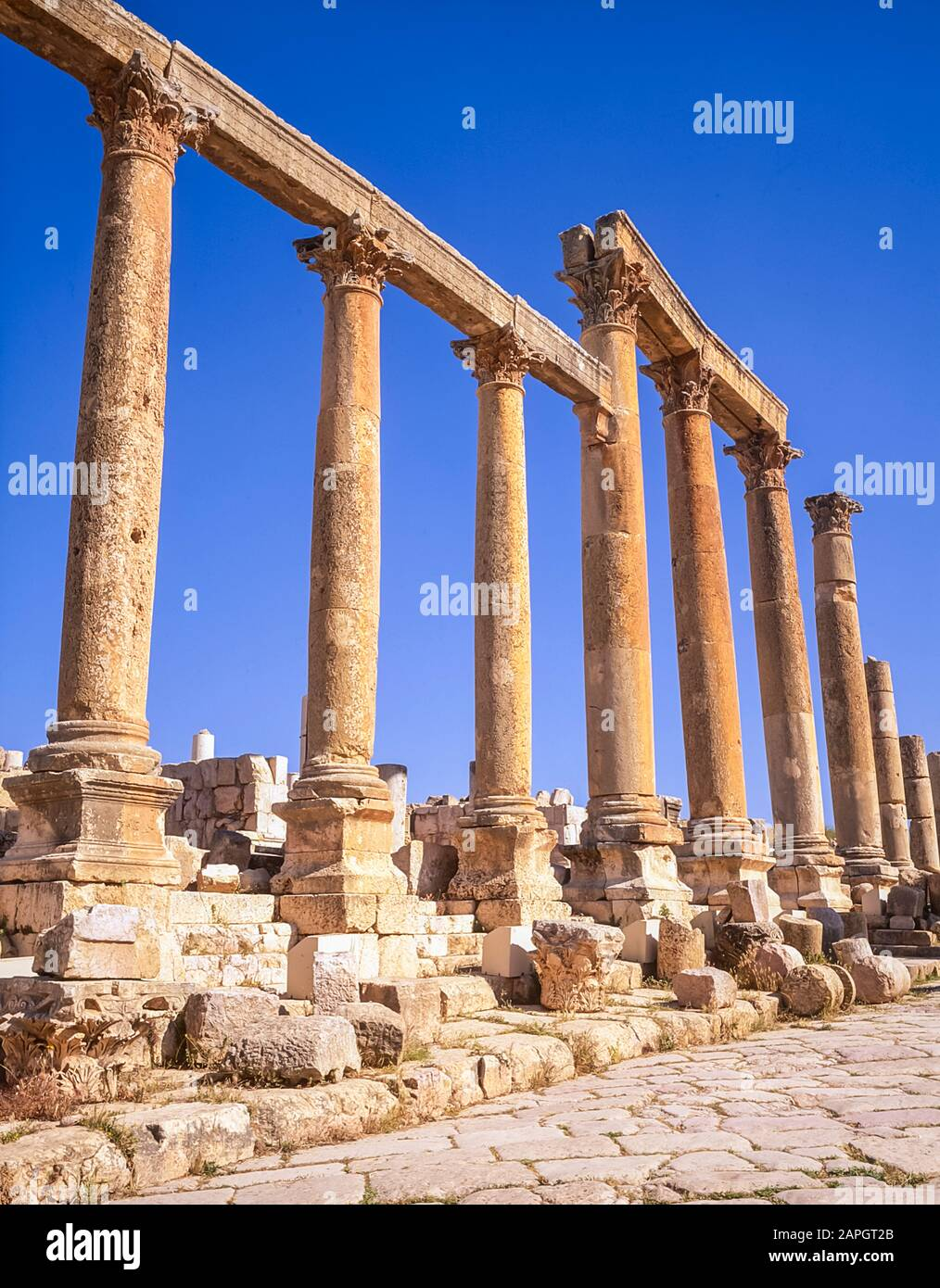 Jordan Colonnades On The Once Main Street Of The Ancient Roman