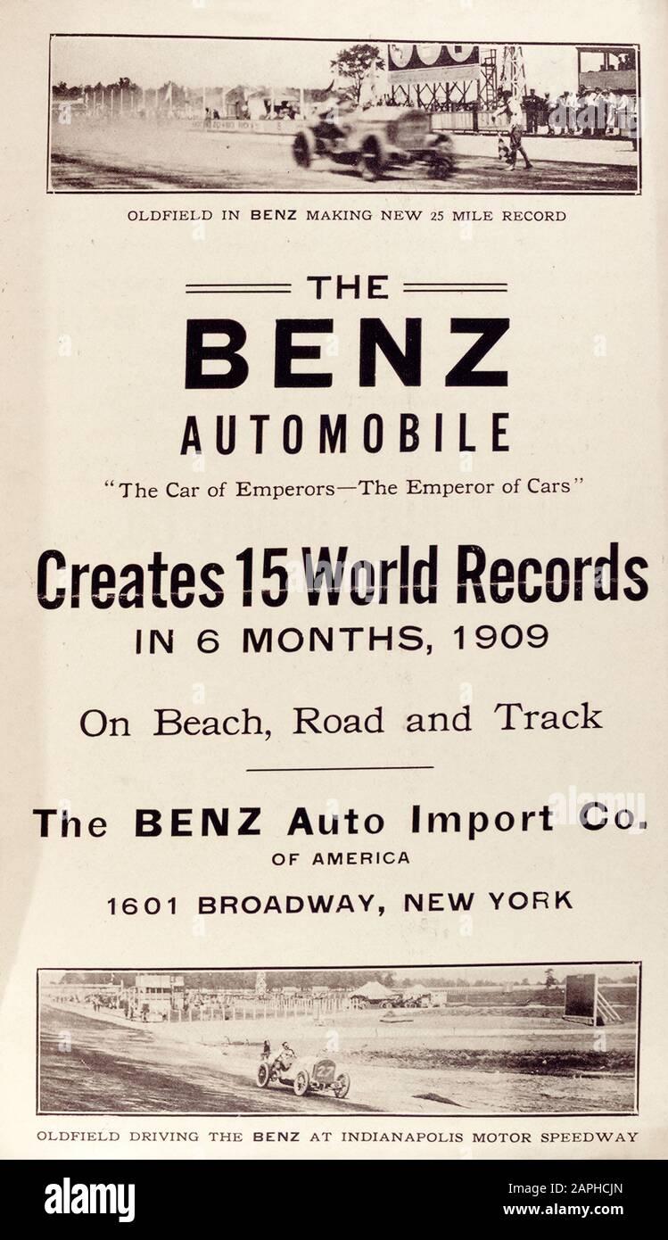 Vintage Automobile Motor Car Poster Indianapolis Motor Speedway 1909