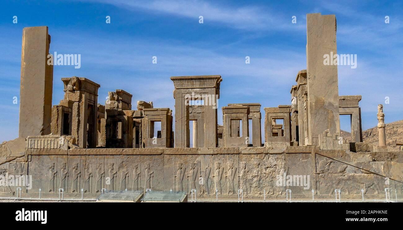 Persepolis, World Heritage of the UNESCO, Iran Stock Photo