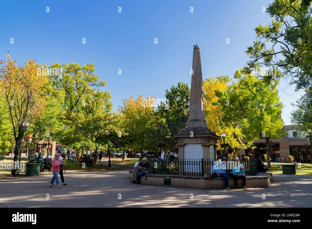 Santa Fe Plaza High Resolution Stock Photography And Images Alamy