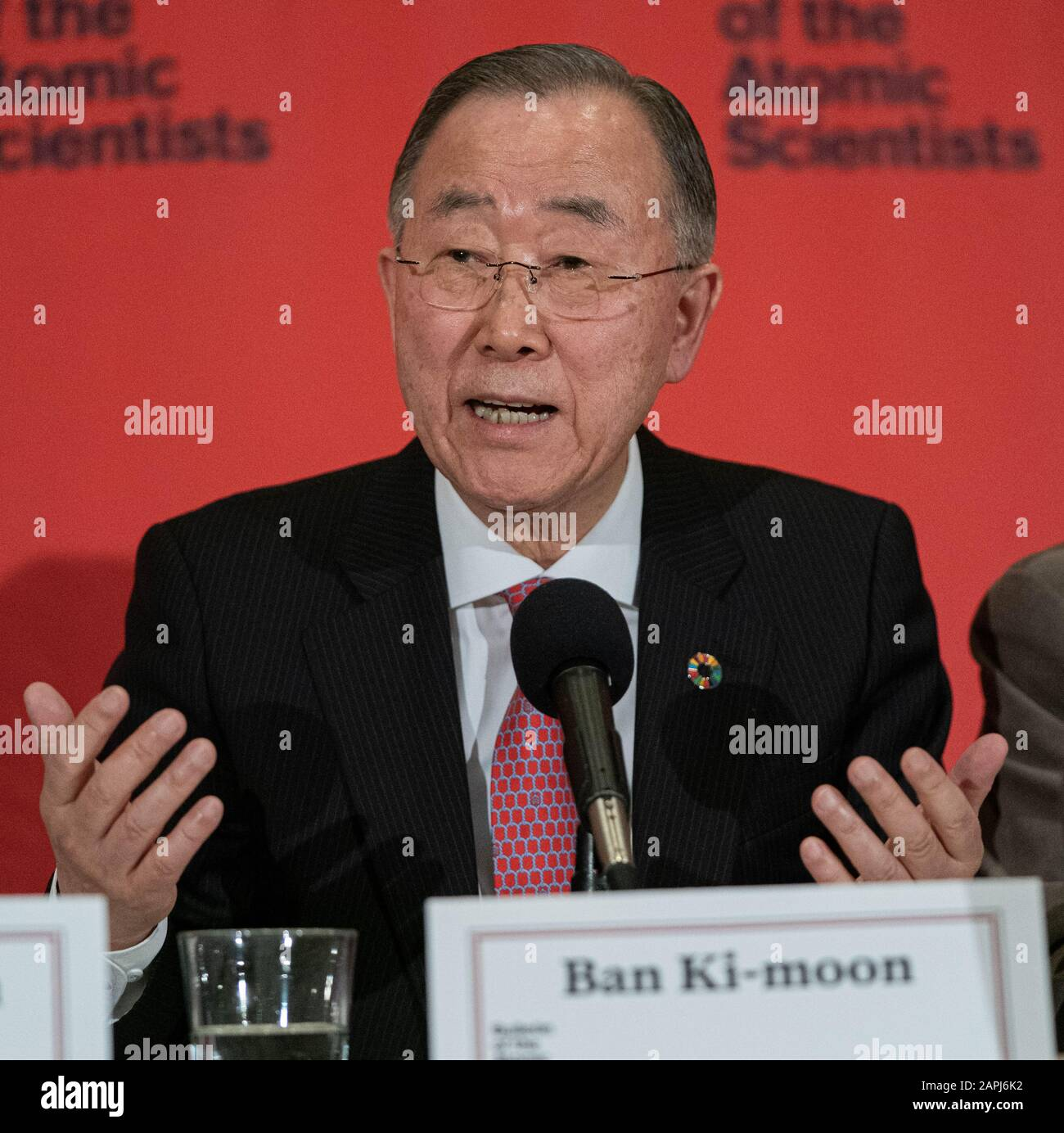 Washington United States 23rd Jan 2020 Deputy Chair The Elders Former Un Secretary General Former South Korean Foreign Minister Ban Ki Moon Speaks On A Panel About The Doomsday Clock At The National Press