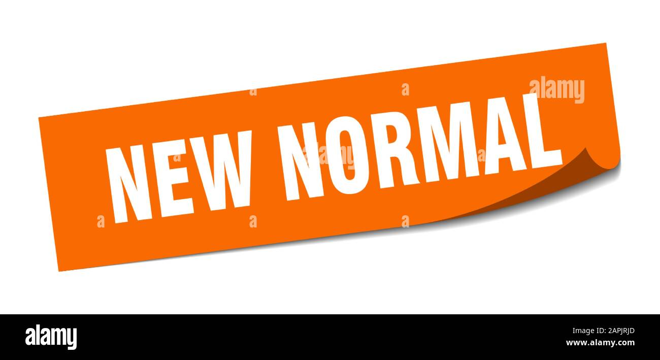 New Normal Sticker New Normal Square Sign New Normal Peeler