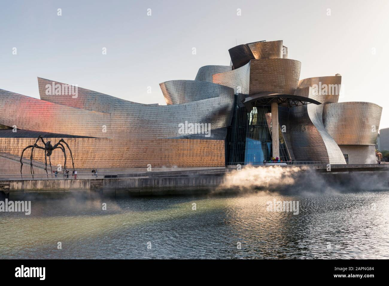 Maman, a giant spider sculpture outside the Guggenheim Museum in Bilbao, Spain. Stock Photo