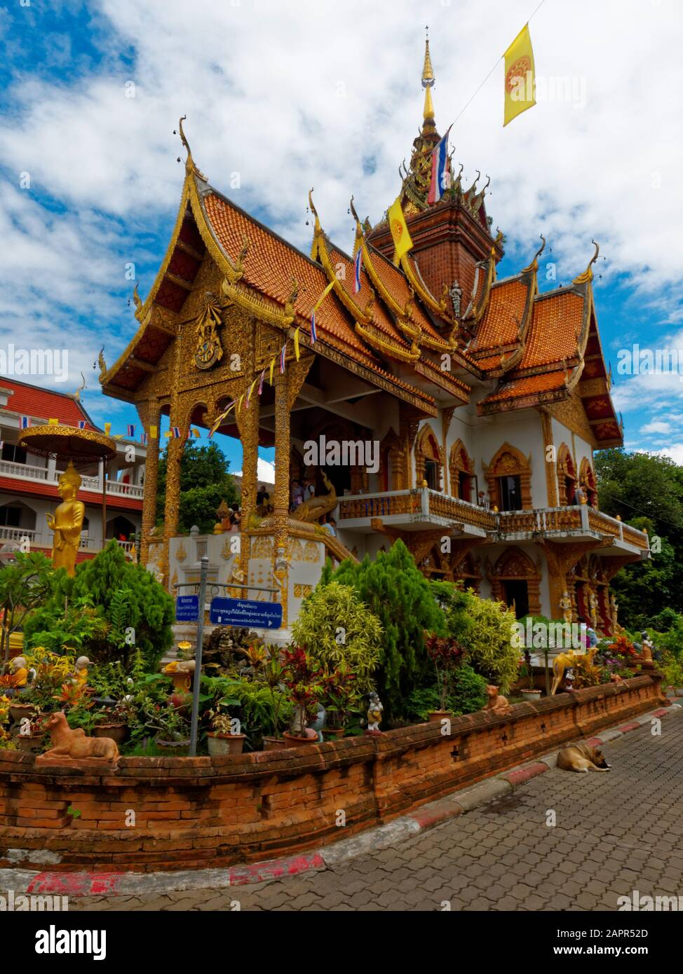 Wat Buppharam temple in Chiang Mai, Thailand, Asia Stock Photo