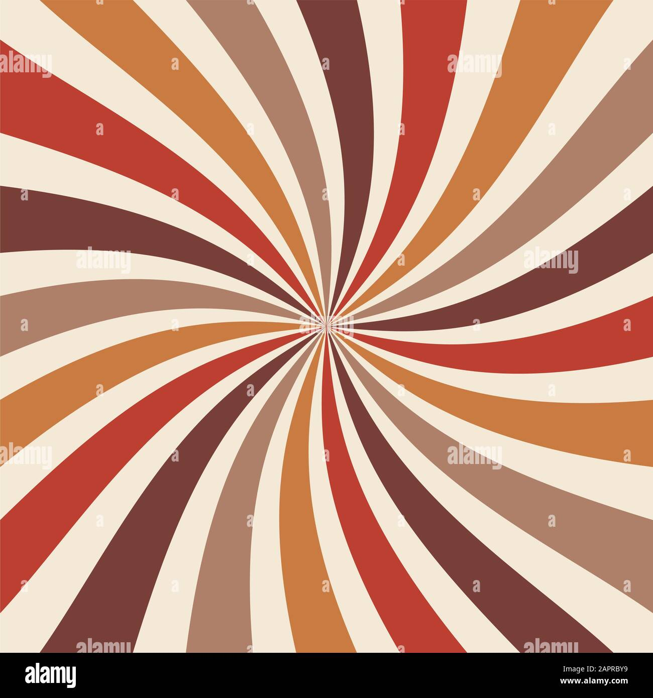 Retro Sunburst Background Vector With Spiral Or Swirl Striped Pattern And Warm Earthy Colors Of Orange Gold And Brown Stock Photo Alamy