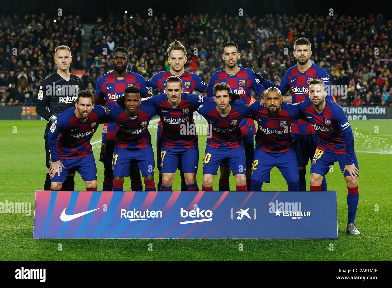 Barcelona Spain 19th Jan 2020 Fc Barcelona Team Group Line Up Barcelona Football Soccer Spanish La