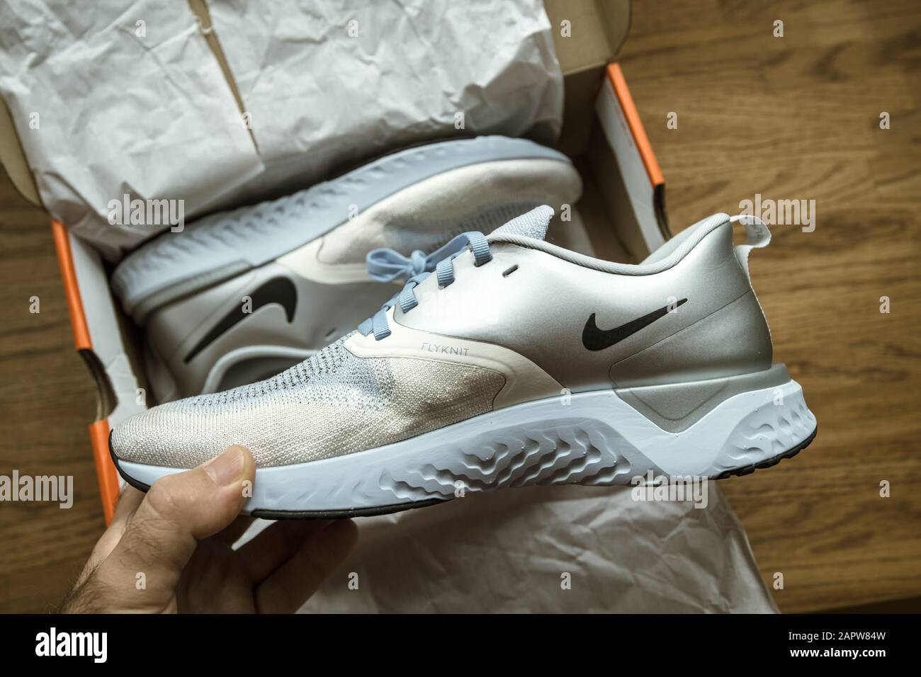 official photos aliexpress utterly stylish Paris, France - Sep 23, 2019: POV man hand Unboxing unpacking on ...