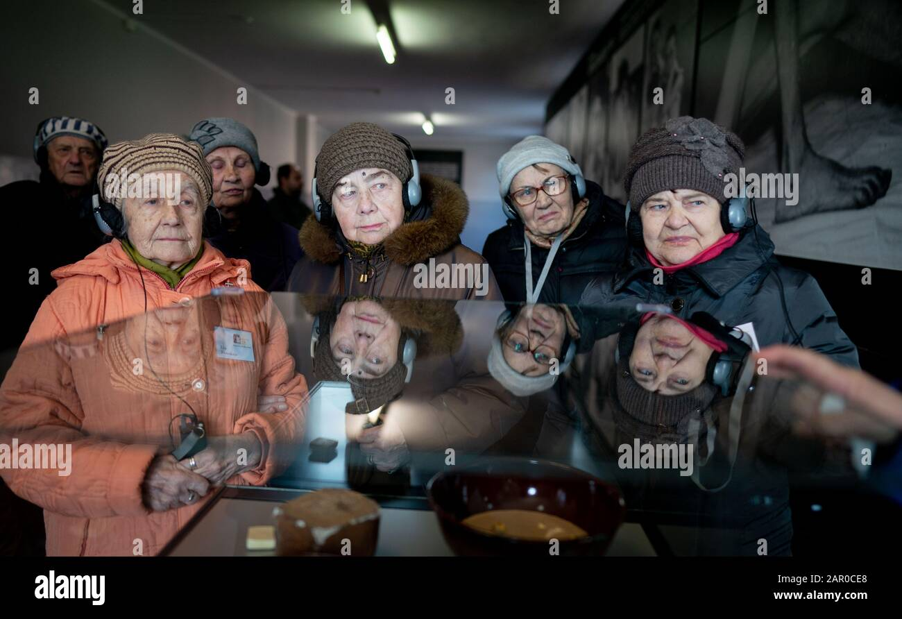 Christmas Tour Poland And Ukraine 2020 Oswiecim, Poland. 25th Jan, 2020. Auschwitz survivors from the