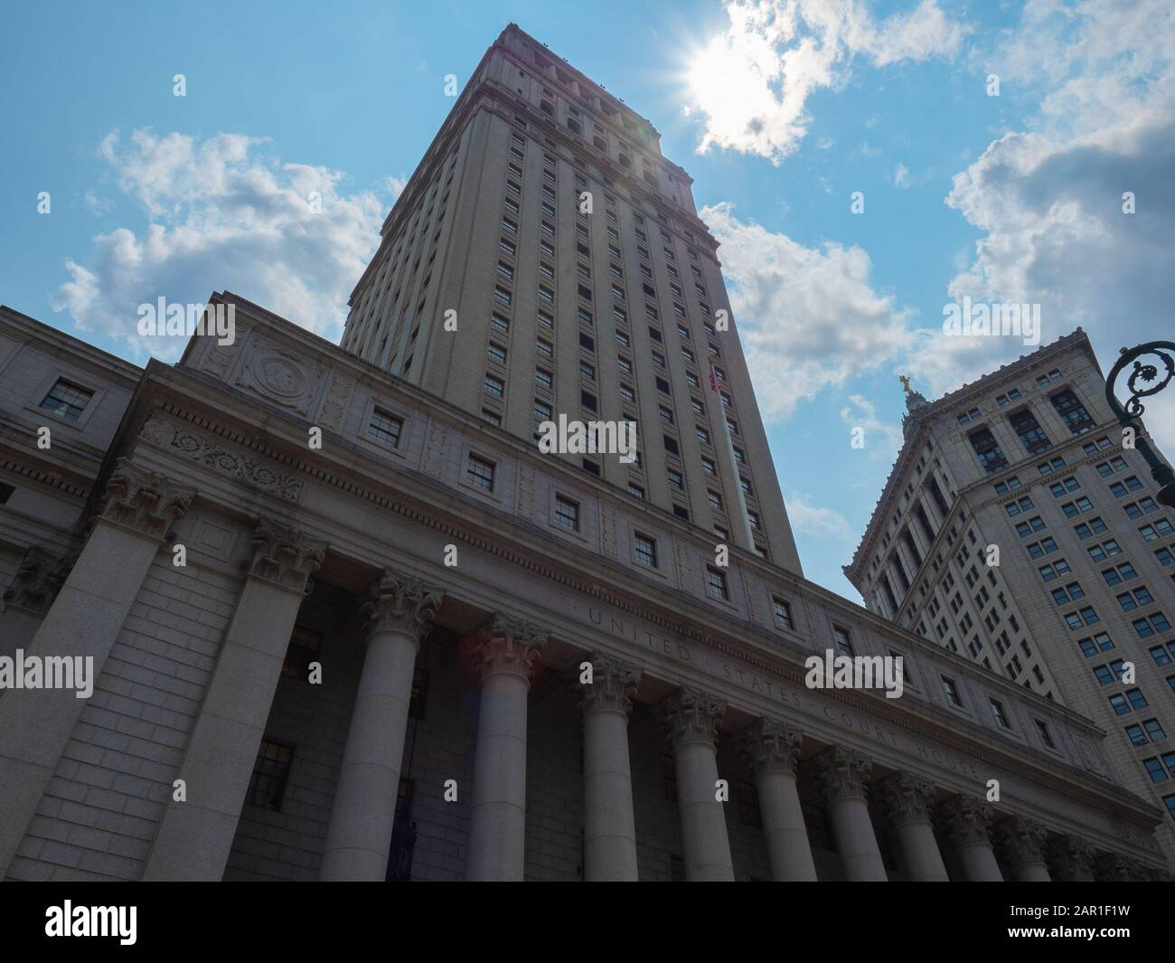 New York, USA - May 31, 2019: Image of the New York county supreme court. Stock Photo