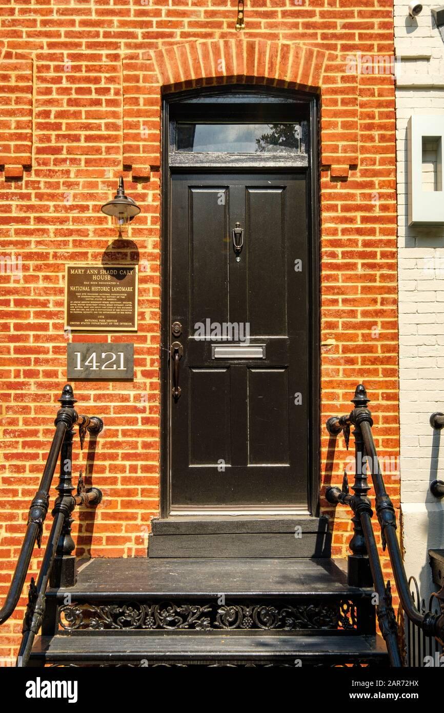 Mary Ann Shadd Cary House 1421 W Street Nw Washington Dc Stock Photo Alamy