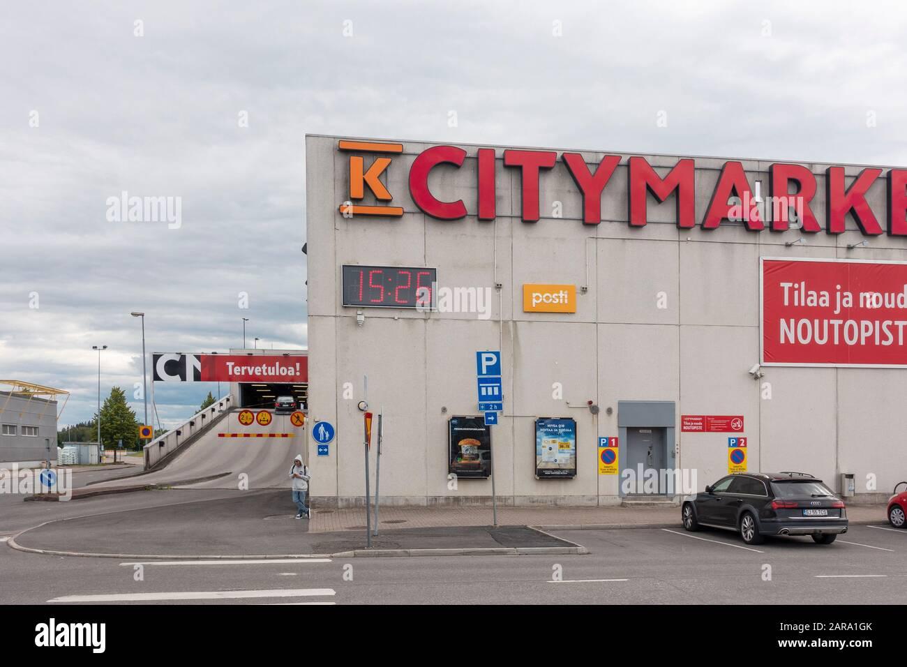 K-Citymarket Warehouse in Hämeenlinna Finland Stock Photo