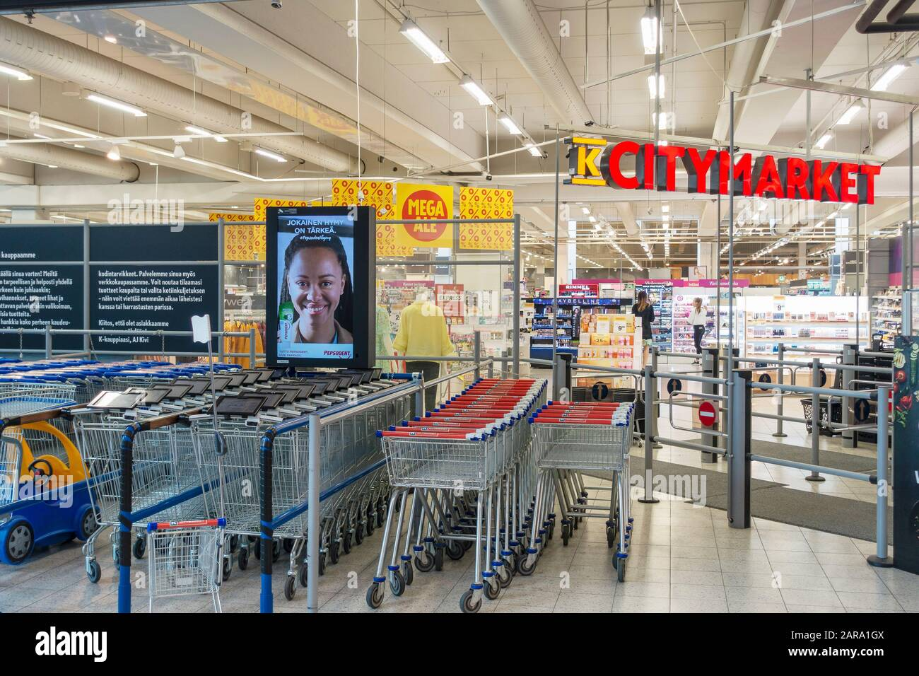 K-Citymarket Warehouse in Hämeenlinna Finland Stock Photo