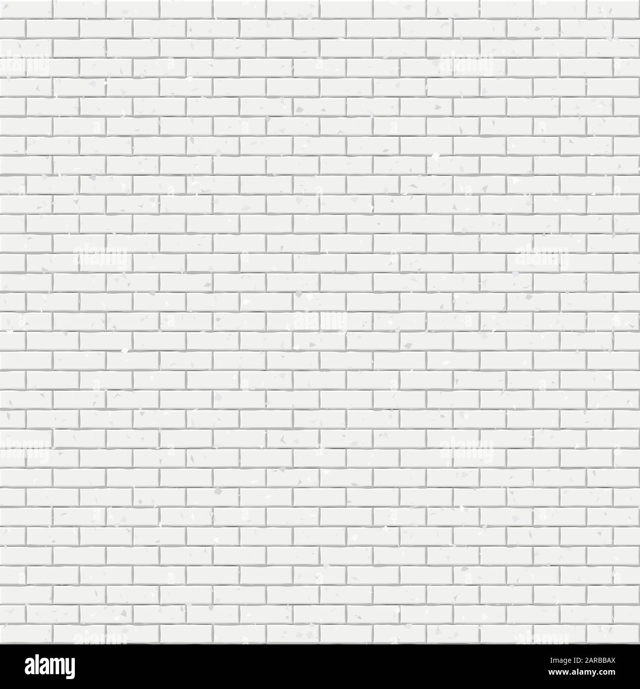 White Brick Wall Texture Seamless Geometric Pattern Of Bricks Stock Vector Image Art Alamy