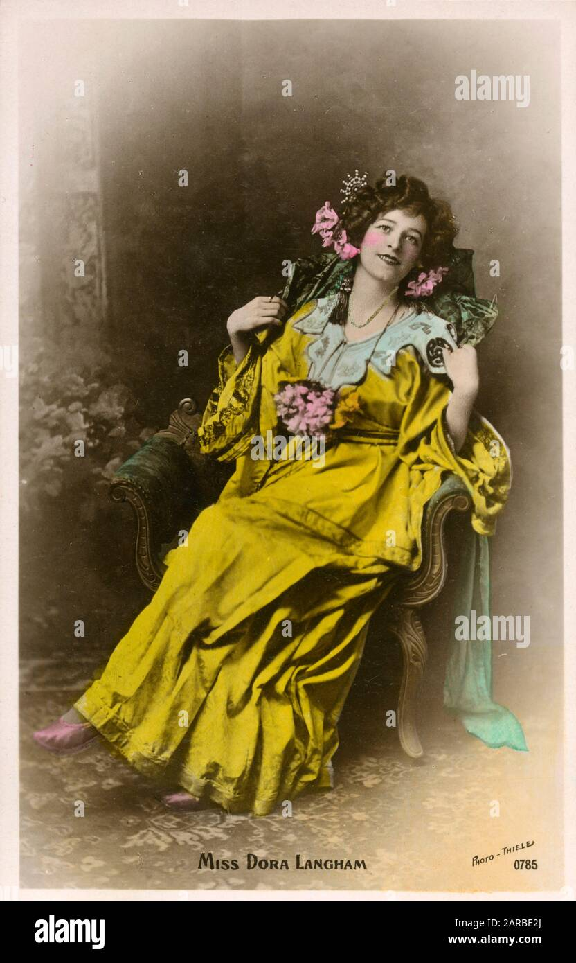 Stage Actress Miss Dora Langham.     Date: circa 1908 Stock Photo