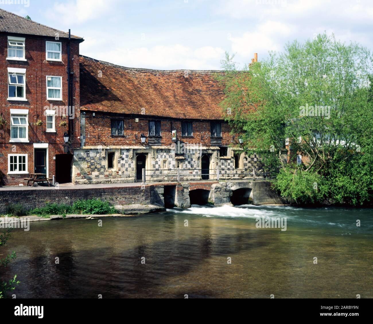 The old Mill, Harnham, Salisbury, Wiltshire, England. Stock Photo