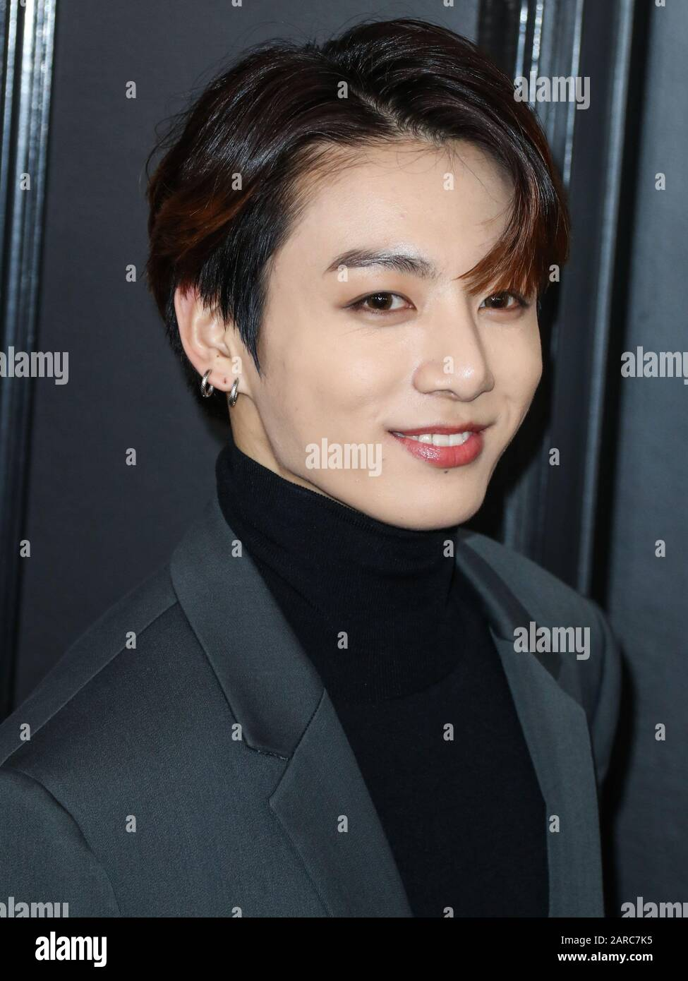 los angeles california usa january 26 rm of bts arrives at the 62nd annual grammy awards held at staples center on january 26 2020 in los angeles california united states photo https www alamy com los angeles california usa january 26 rm of bts arrives at the 62nd annual grammy awards held at staples center on january 26 2020 in los angeles california united states photo by xavier collinimage press agency image341403529 html