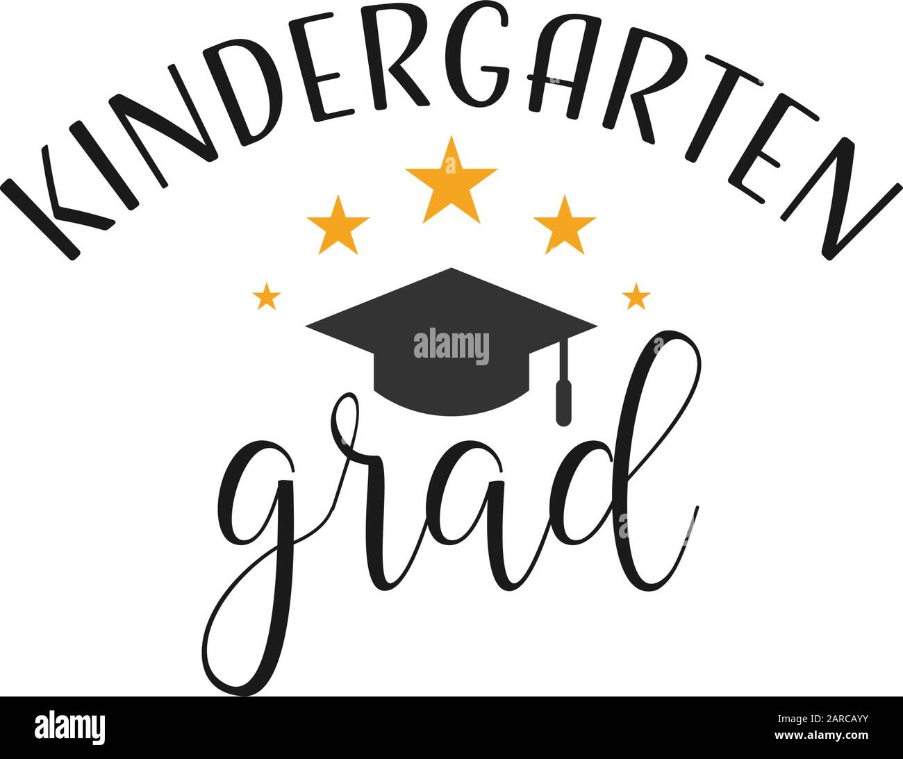graduation quote lettering typography kindergarten graduate stock