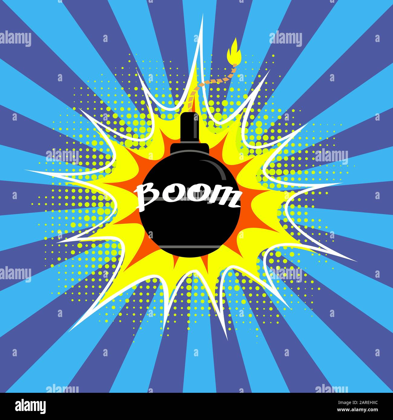 Black Burning Bomb Icon Explode Flash Cartoon Explosion With Boom Text Stock Vector Image Art Alamy