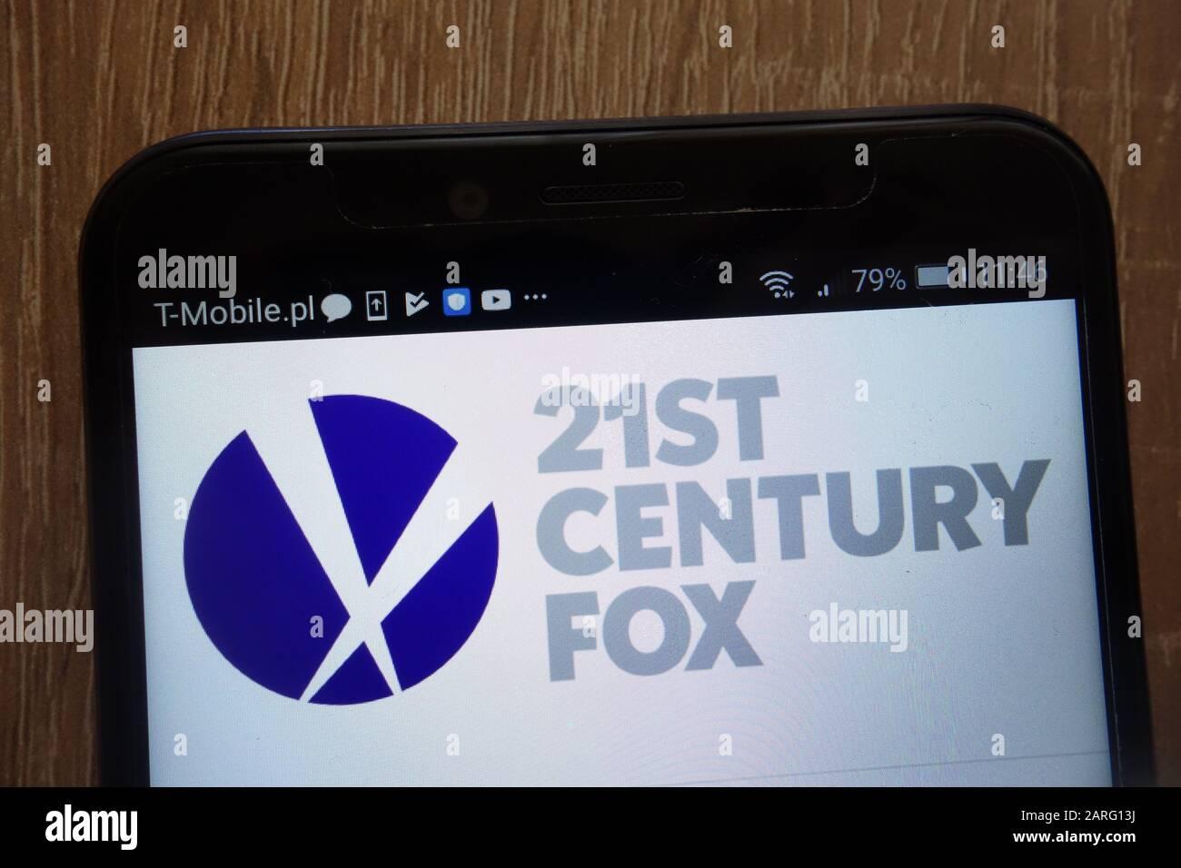 21st Century Fox logo displayed on a modern smartphone Stock Photo