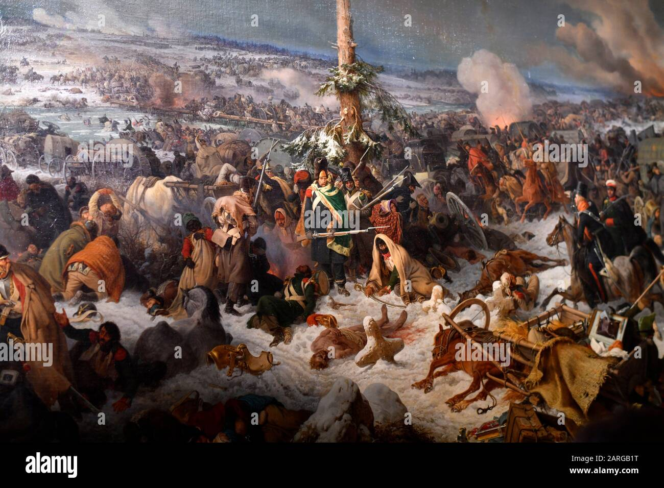 MASSIVE BATTLE OF ORSHA RUSSIA POLAND WAR 1500'S PAINTING ART REAL CANVAS PRINT