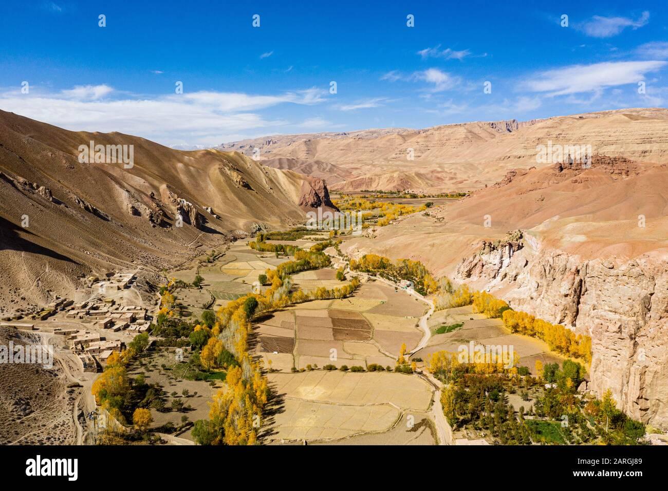 Fertile valley near Yakawlang province, Bamyan, Afghanistan, Asia Stock Photo