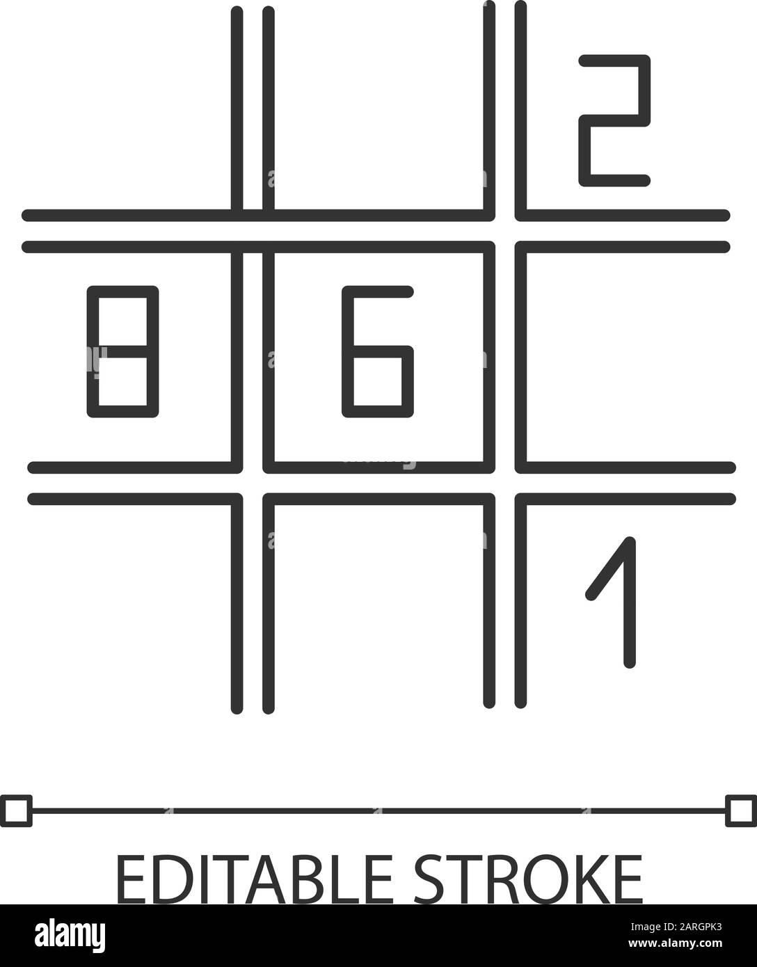 Sudoku Black And White Stock Photos Images Alamy
