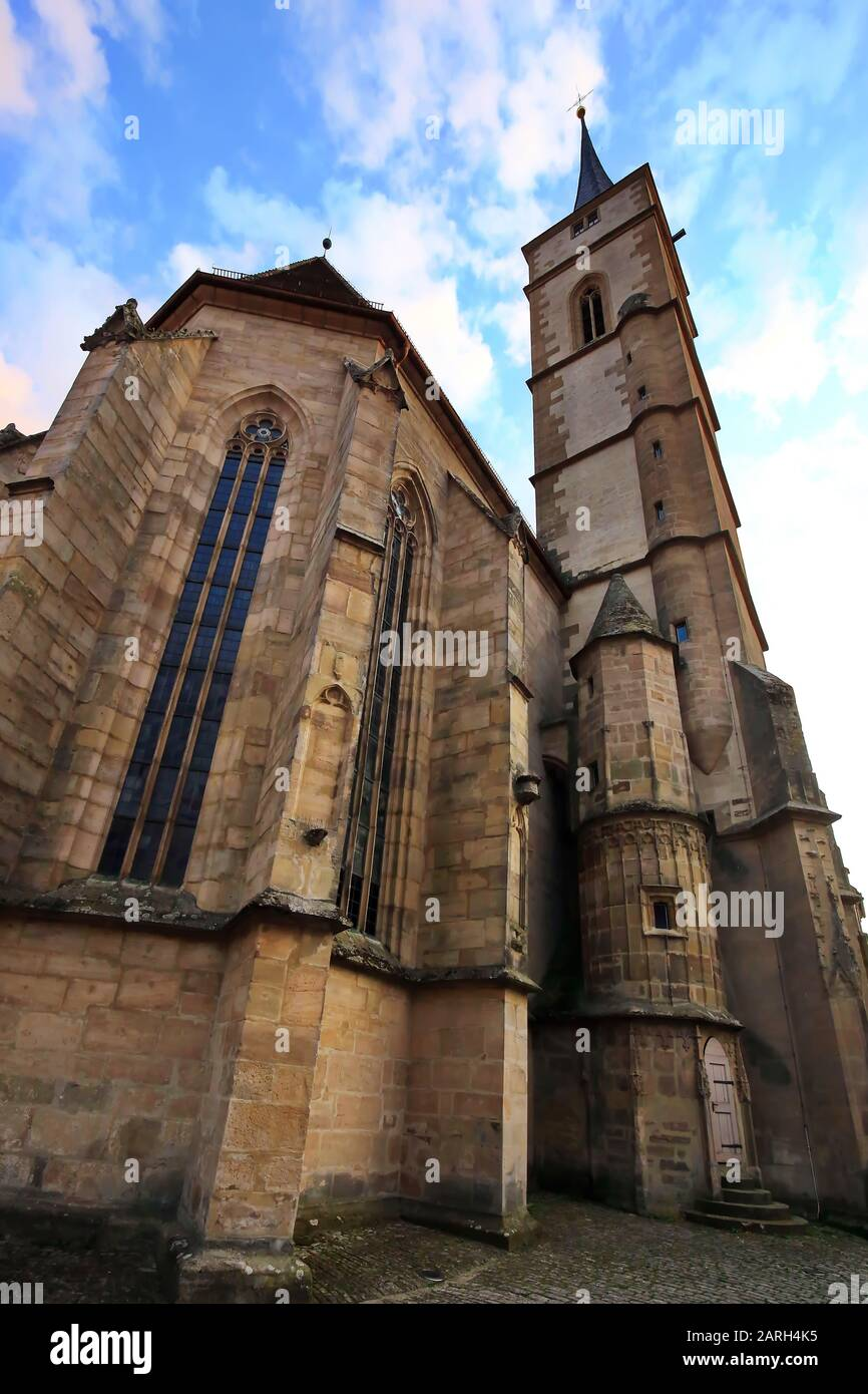 Iphofen is a city in Bavaria with many historical sights. Sankt Veit Stock Photo