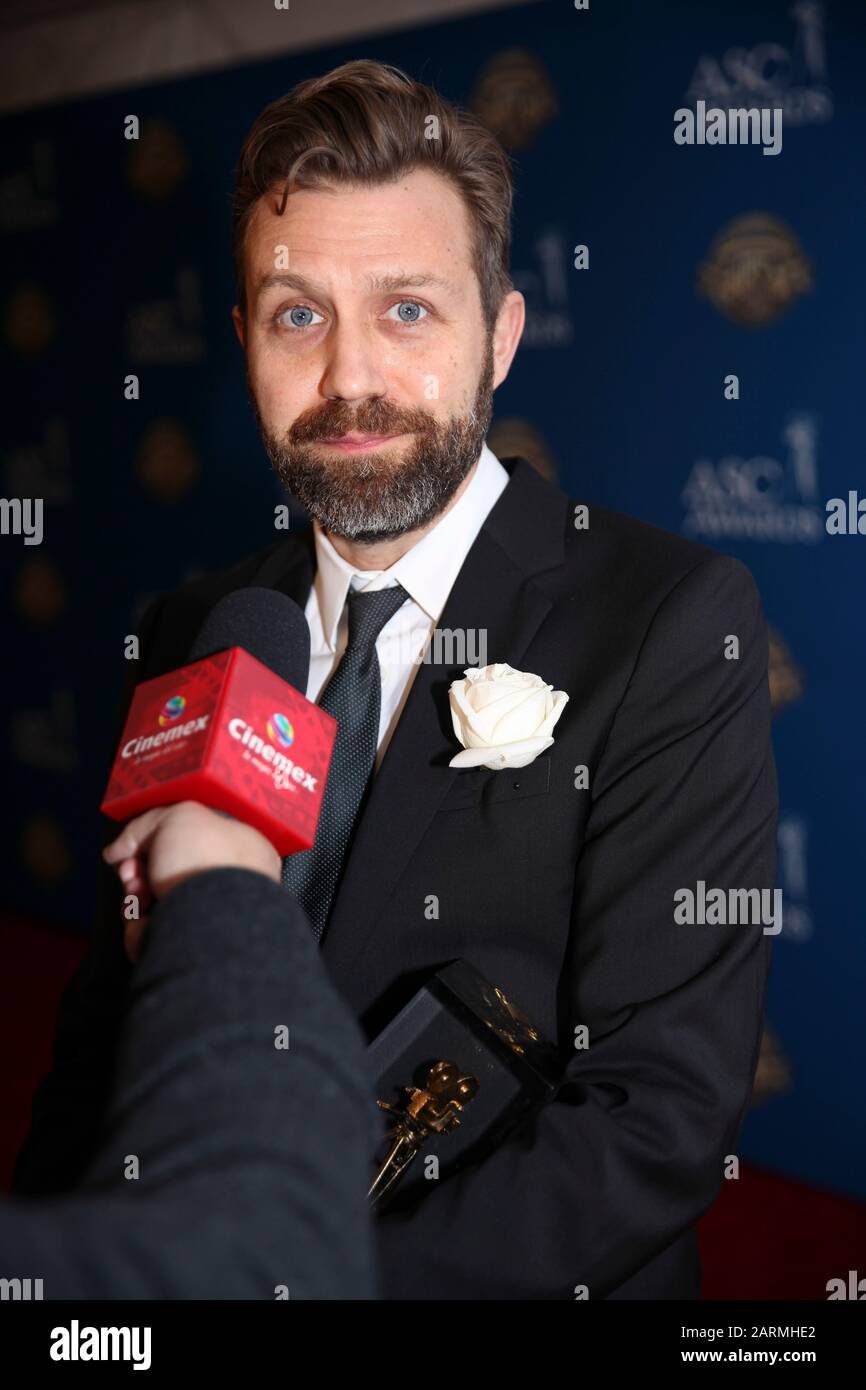 Jarin Blaschke attends the 34th Annual American Society of Cinematographers ASC Awards at Ray Dolby Ballroom in Los Angeles, California, USA, on 25 January 2020. Stock Photo