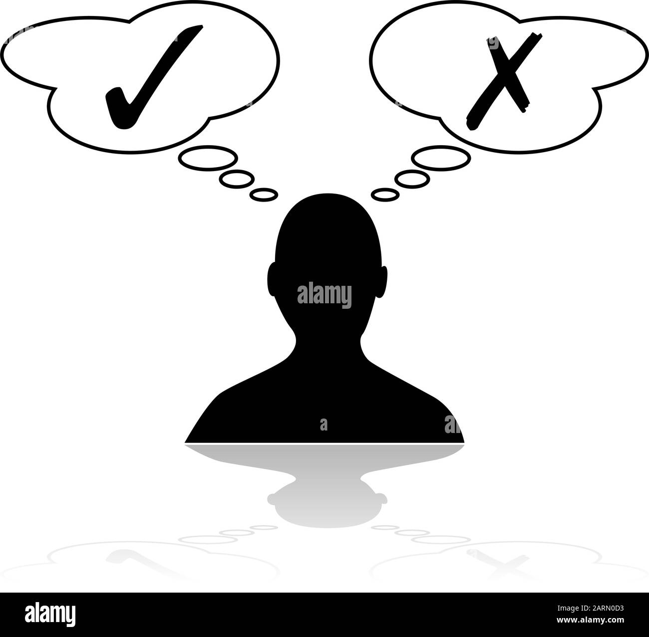 Concept Illustration Showing A Person Thinking About Different Options Before Making A Decision Stock Vector Image Art Alamy Download all photos and use them even for commercial projects. https www alamy com concept illustration showing a person thinking about different options before making a decision image341595439 html