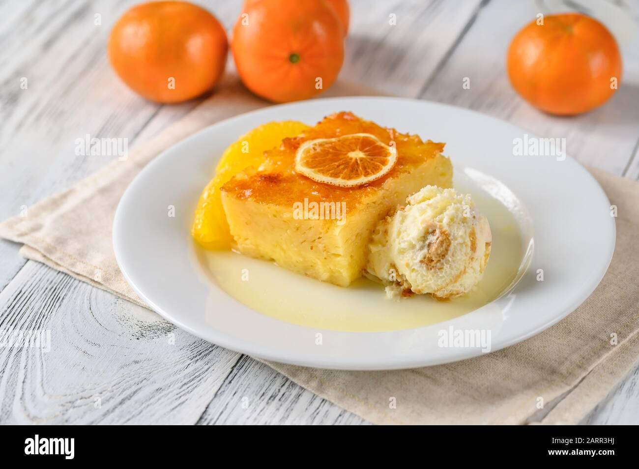 Portokalopita - Greek phyllo orange cake Stock Photo