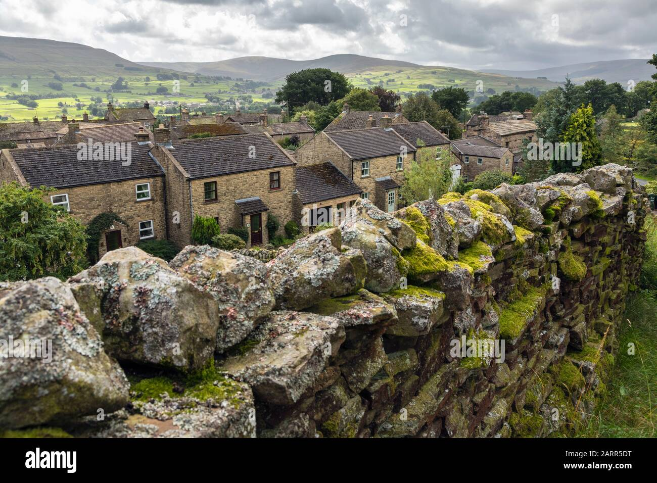 The tiny picturesque village of Sedbusk in Wensleydale, Yorkshire Dales National Park, England Stock Photo
