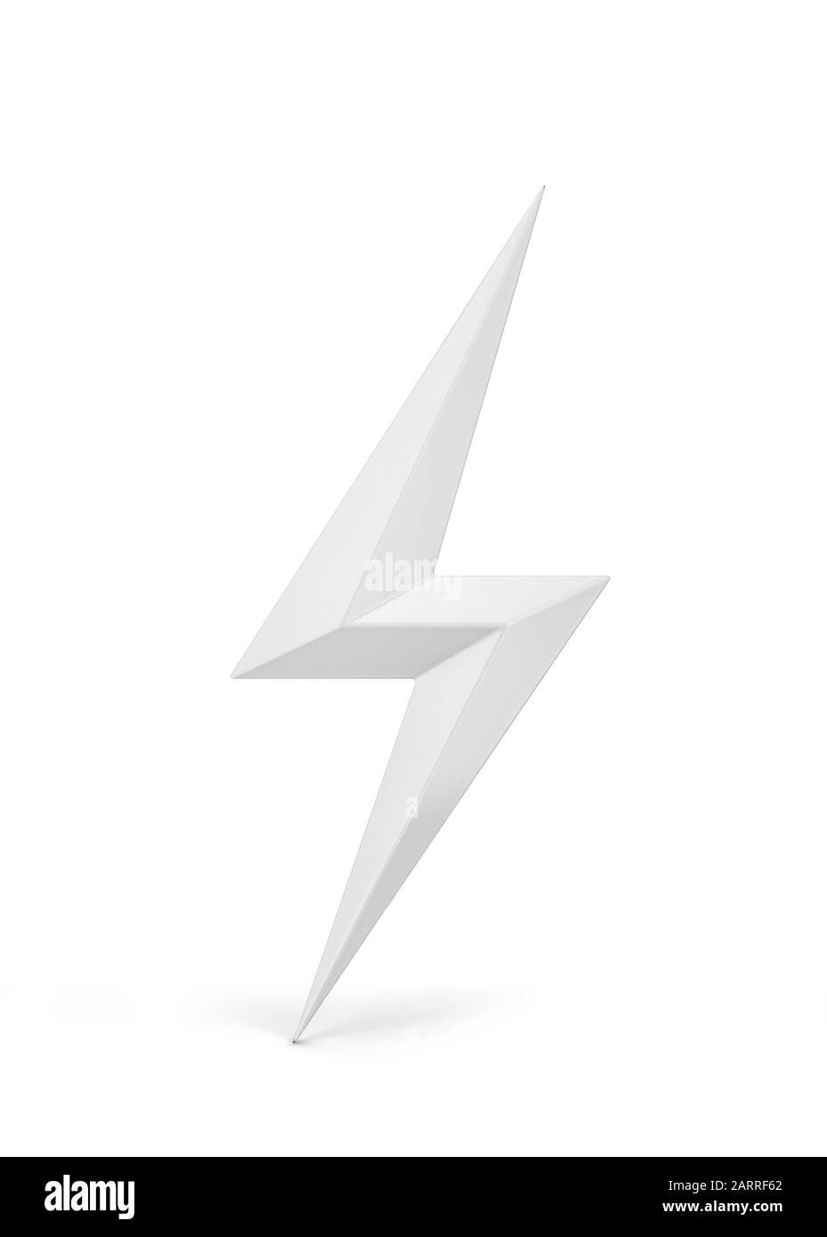 Lightning bolt symbol. 3d illustration isolated on white background Stock Photo