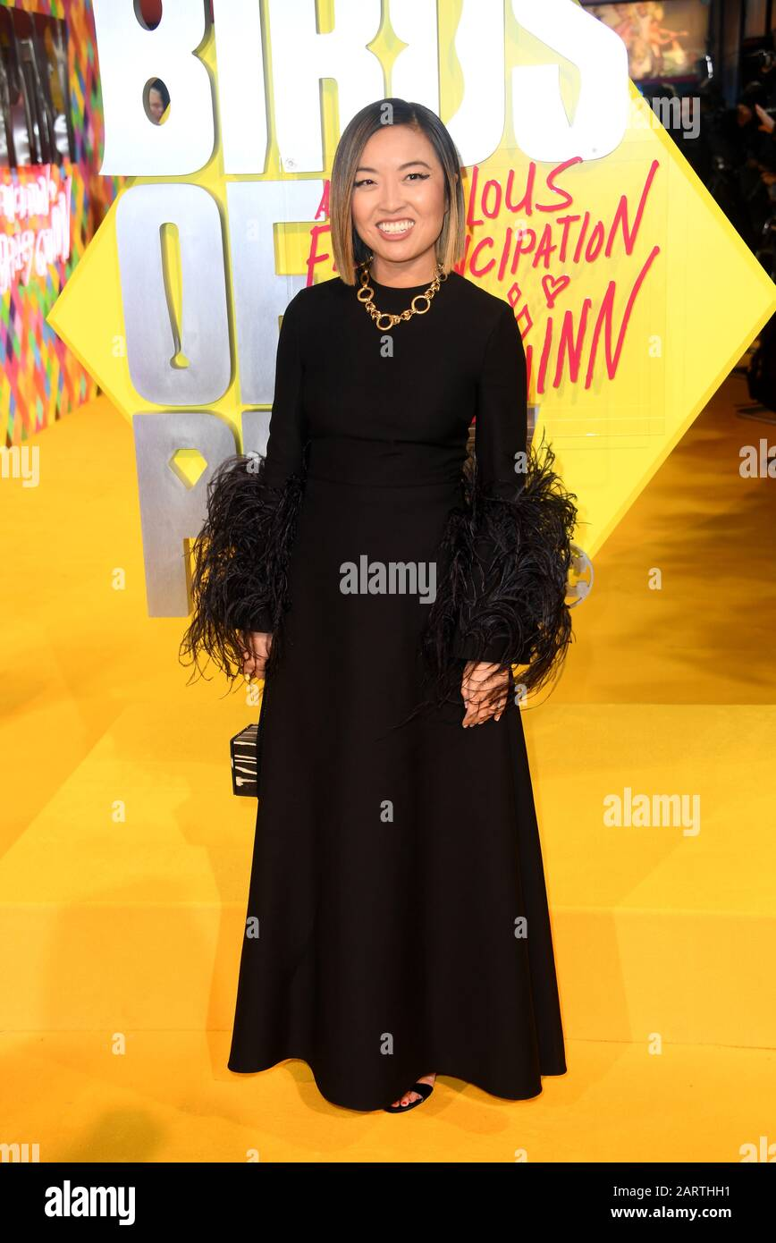 Director Cathy Yan Attending The World Premiere Of Birds Of Prey And The Fantabulous Emancipation Of One Harley Quinn Held At The Bfi Imax London Stock Photo Alamy