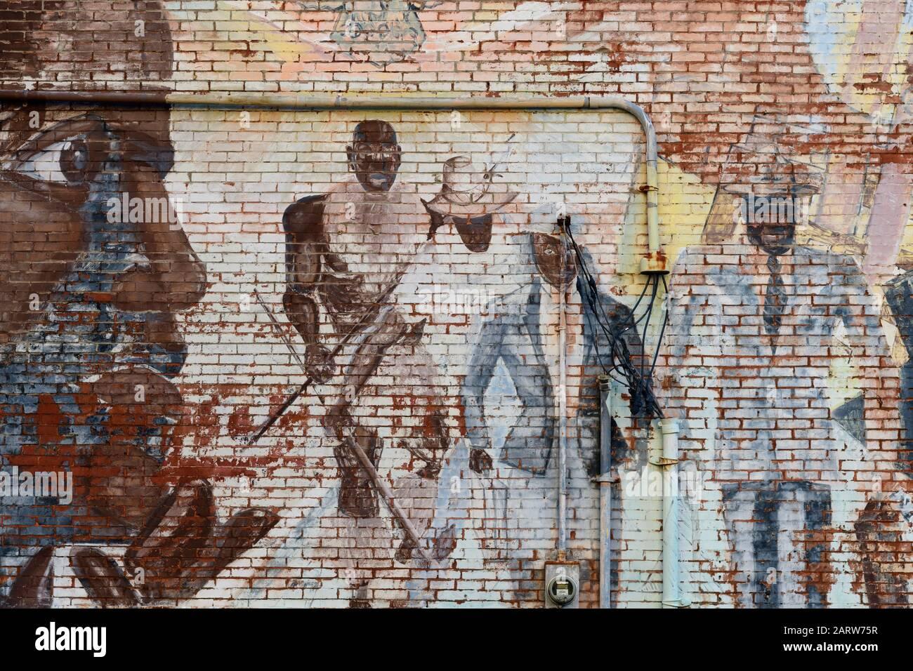 USA,Deep South,  Tennessee, Memphis, mural Stock Photo