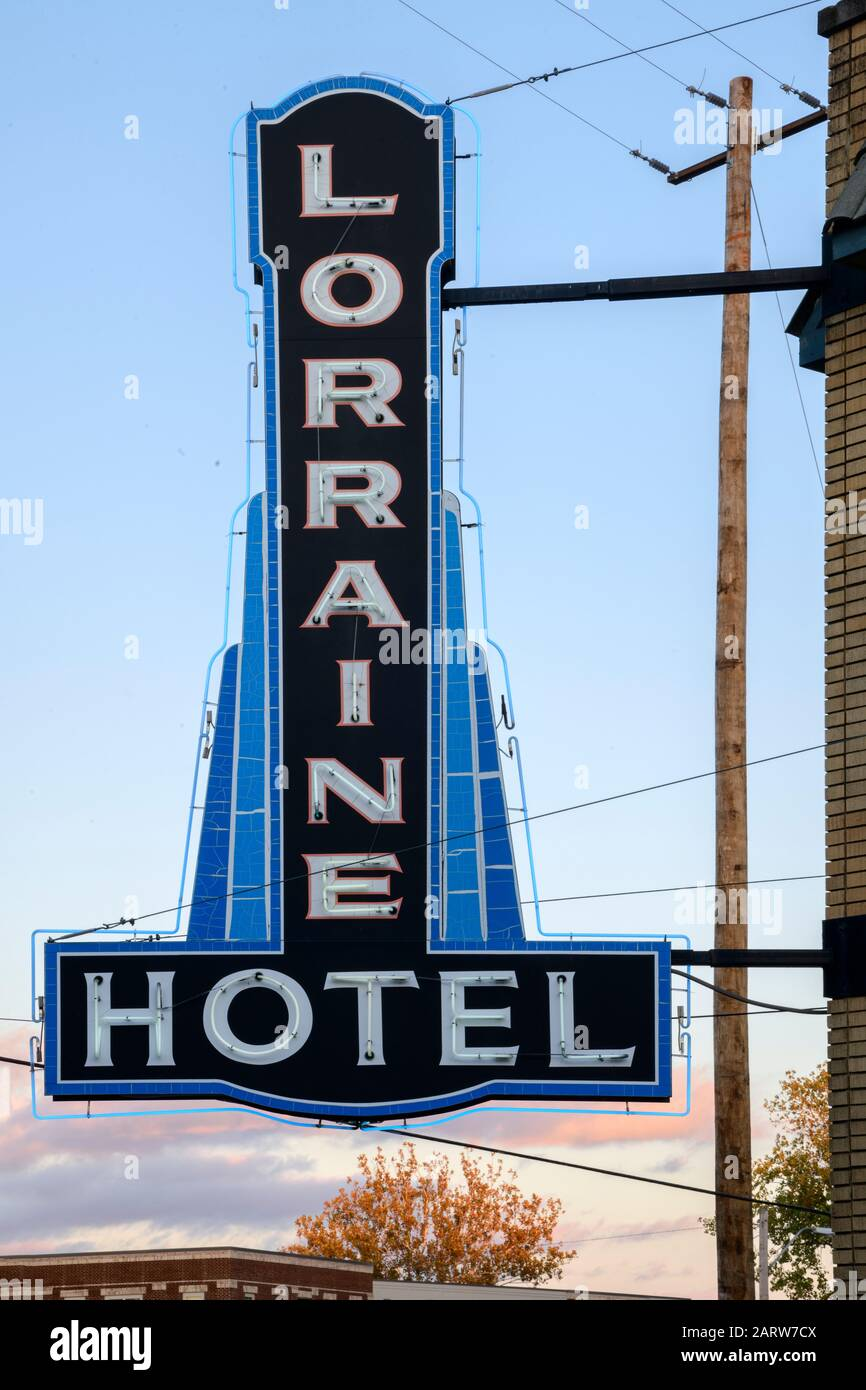 USA,Deep South,  Tennessee, Memphis, National Civil Rights Museum, Lorraine Motel Stock Photo