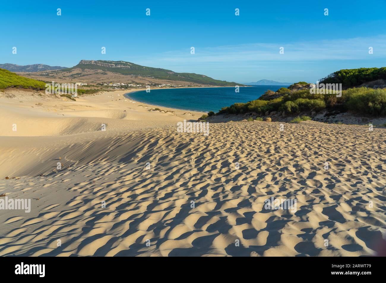 Beautiful shot of estrecho natural park of bolonia beach in spain Stock Photo
