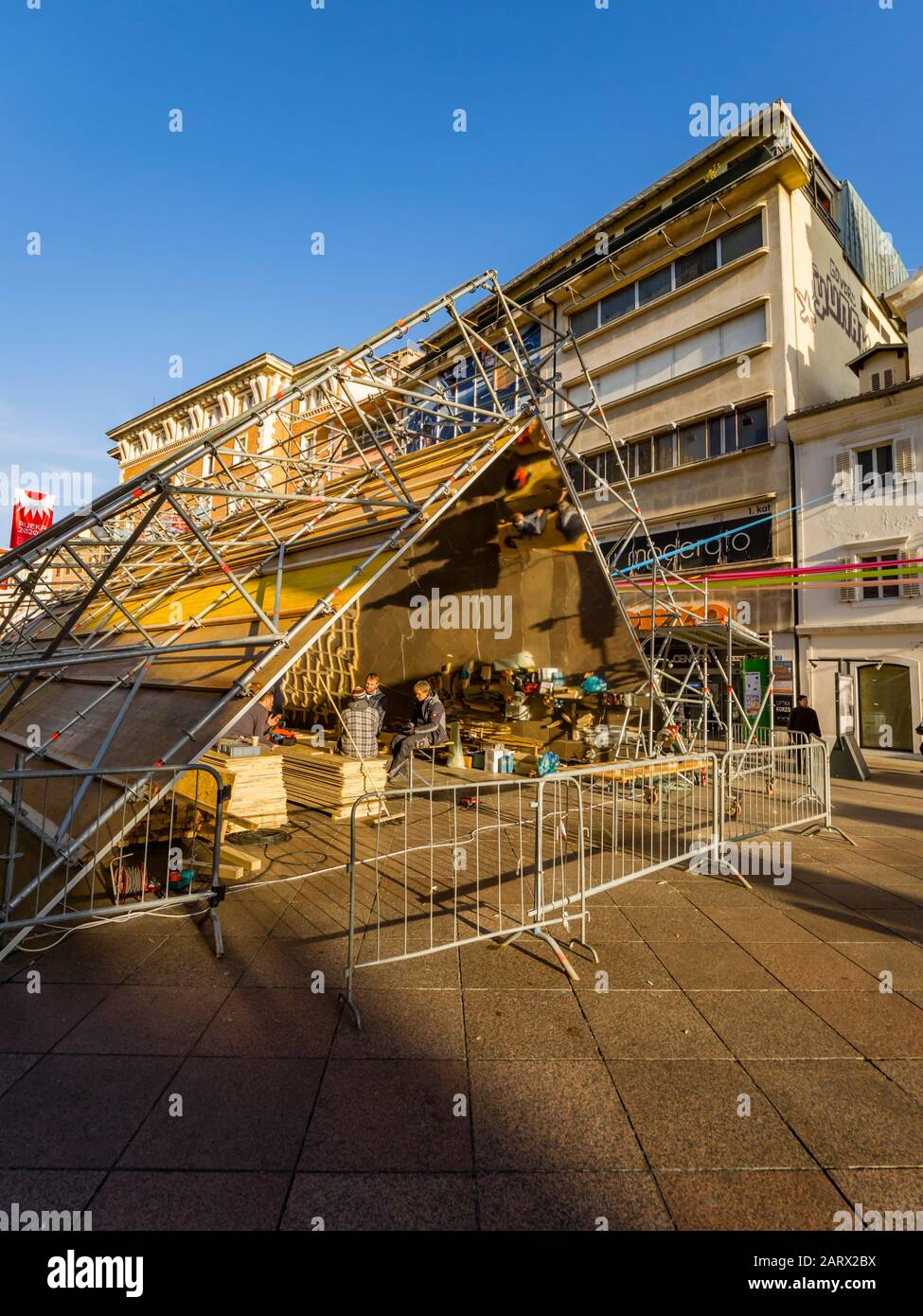 European Capital of Culture preparations before opening EPK 2020 Rijeka in Croatia Stock Photo