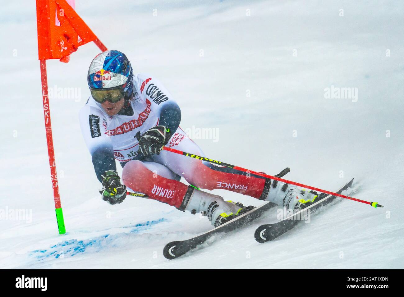 Alta Badia, Italy 22 December 2019.  PINTURAULT Alexis (Fra) competing in the Audi Fis Alpine Skiing World Cup Men's Giant Slalom on the Gran Risa Cou Stock Photo