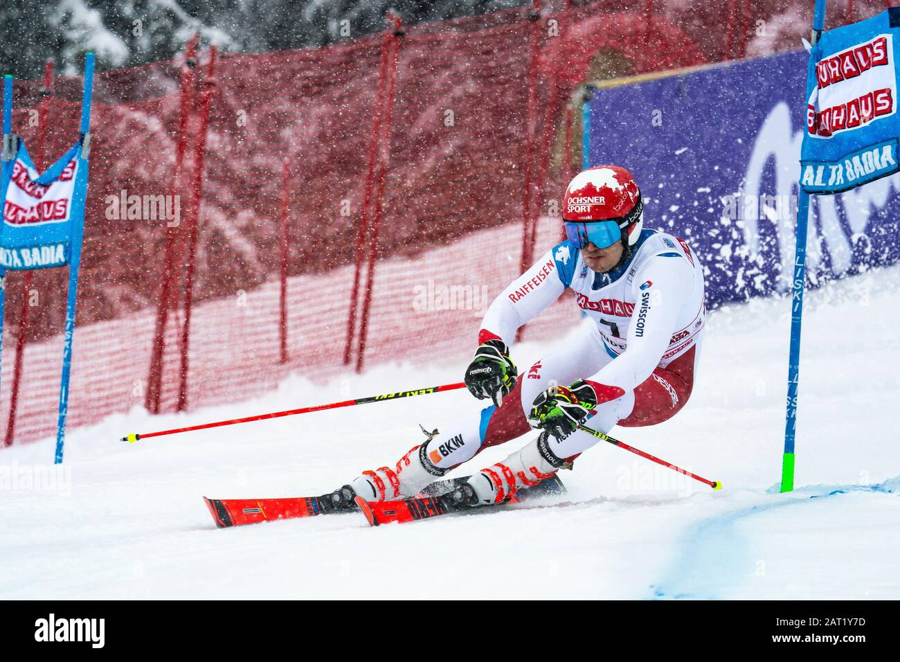 Alta Badia, Italy 22 December 2019.  MEILLARD Loic (Sui) competing in the Audi Fis Alpine Skiing World Cup Men's Giant Slalom on the Gran Risa Course Stock Photo