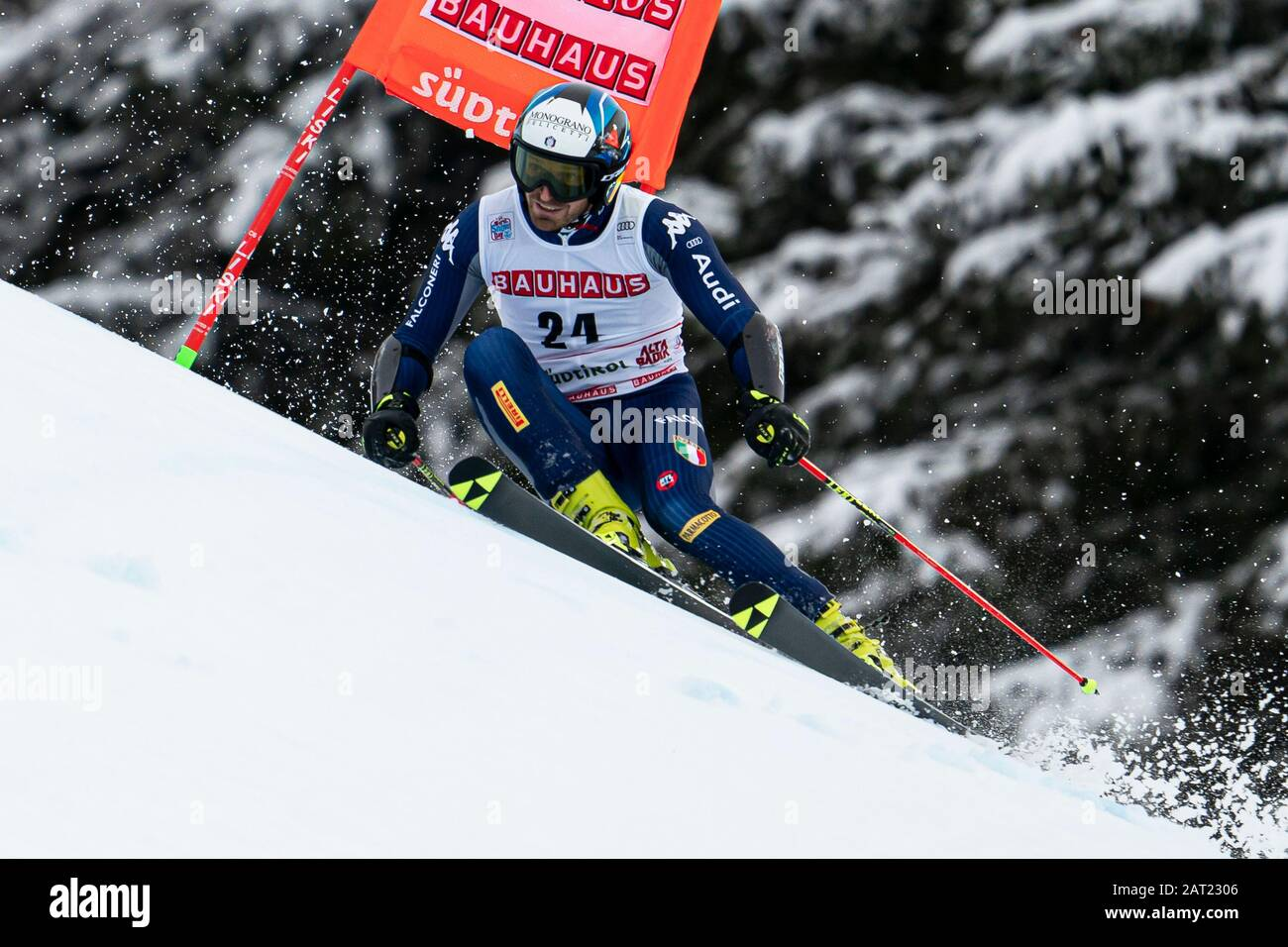 Alta Badia, Italy 22 December 2019.  MOELGG Manfred (Ita) competing in the Audi Fis Alpine Skiing World Cup Men's Giant Slalom on the Gran Risa Course Stock Photo