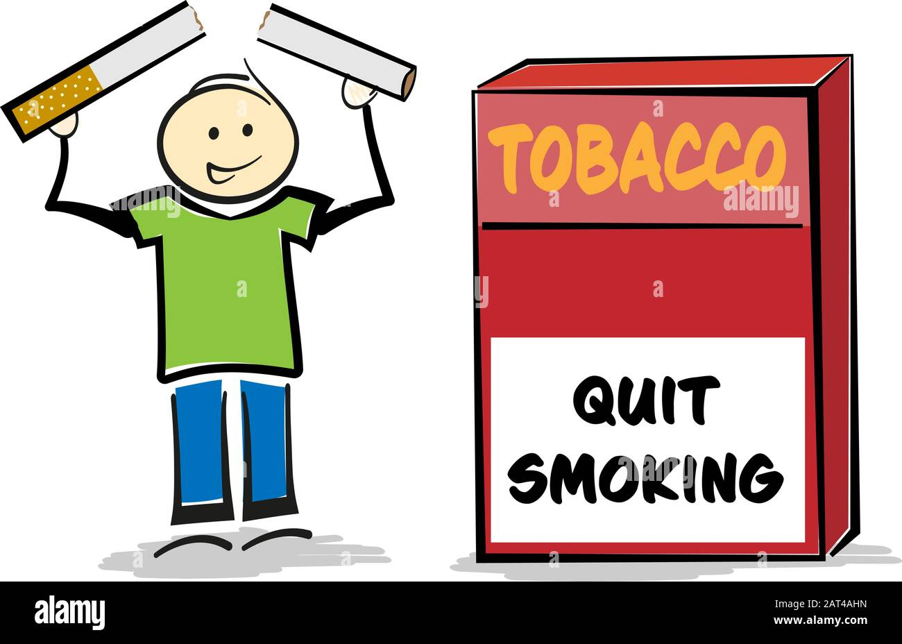 Man Smoking Cigarette Cartoon Illustration High Resolution Stock Photography And Images Alamy