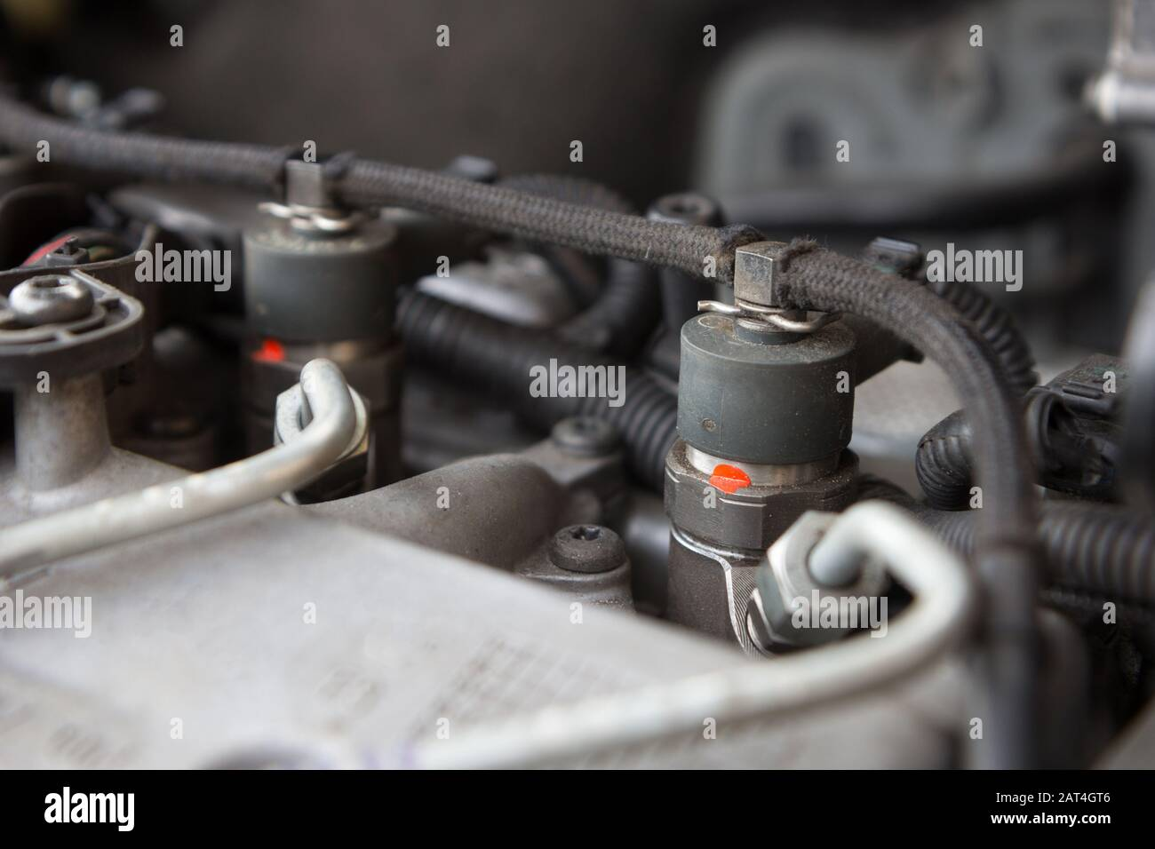 diesel engine fuel injection nozzle Stock Photo