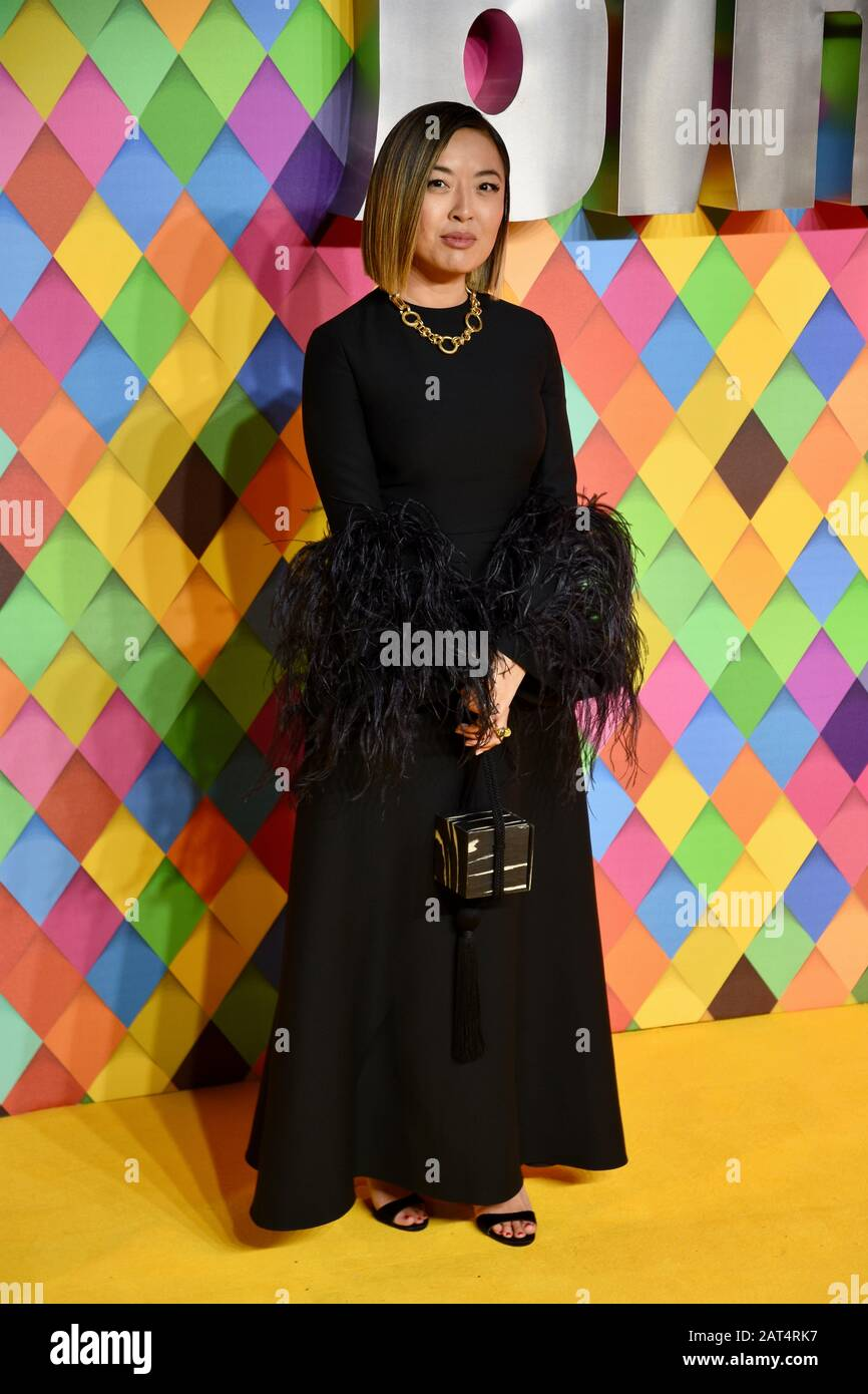 Cathy Yan World Premiere Of Birds Of Prey And The Fantabulous Emancipation Of One Harley Quinn Odeon Bfi Max Waterloo London Uk Stock Photo Alamy