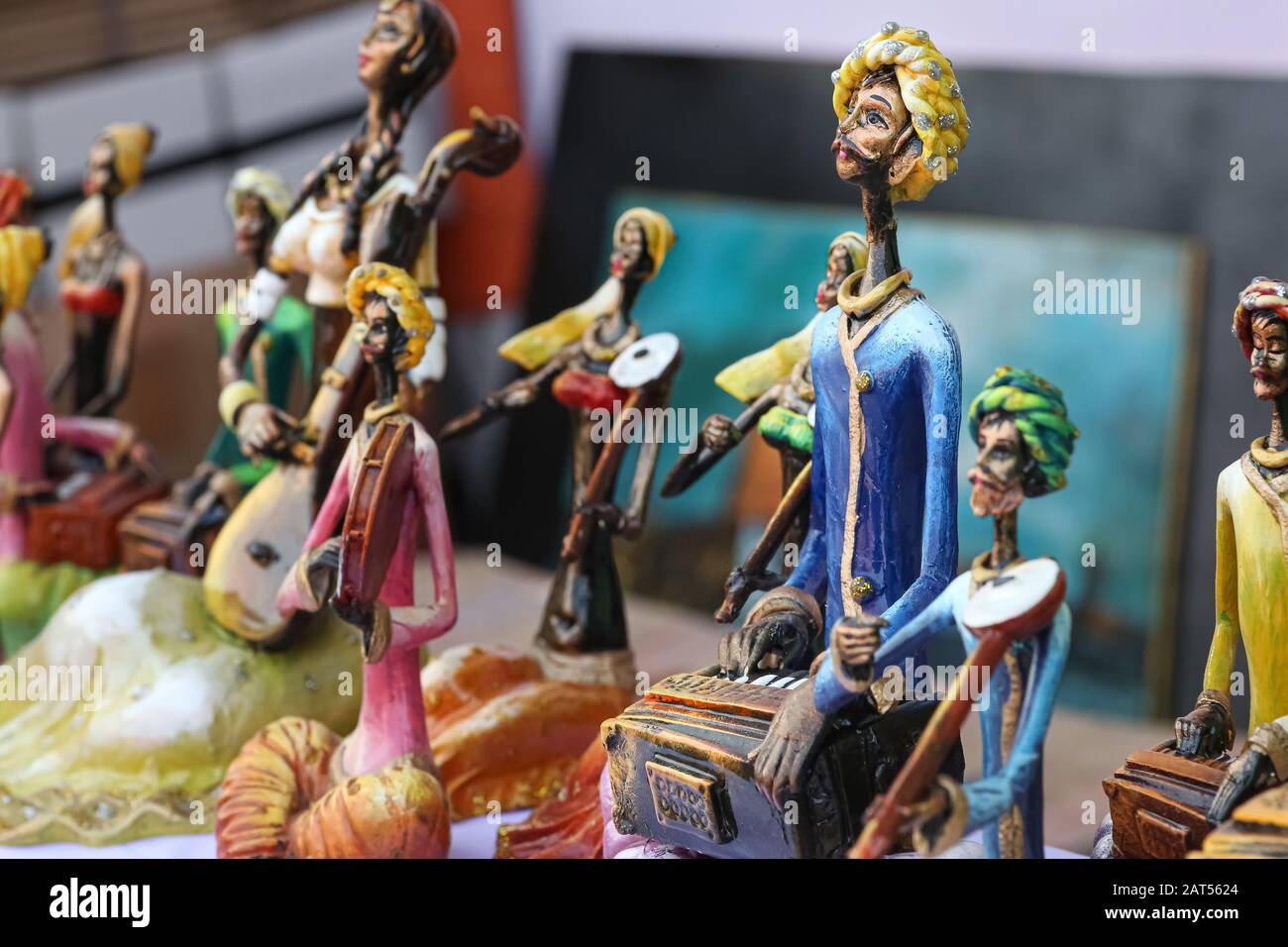 Handmade Models Used As Home Decorative Items On Display For Sale At A Handicraft Fare At Kolkata India Stock Photo Alamy