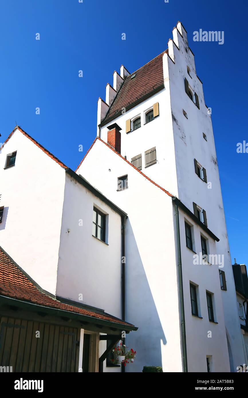 Taschentorturm Ingolstadt is a city in Bayern/Germany with many historical attractions Stock Photo