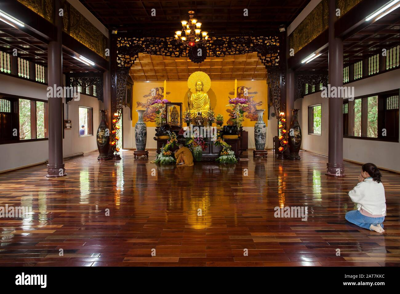 Truc Lam Pagoda, central highlands, Dalat, Vietnam Stock Photo