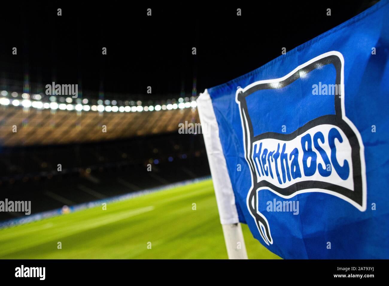 firo: 31.01.2020, Fuvuball, 1.Bundesliga, season 2019/2020, Hertha BSC Berlin - FC Schalke 04 Hertha BSC symbolfoto, detail   usage worldwide Stock Photo