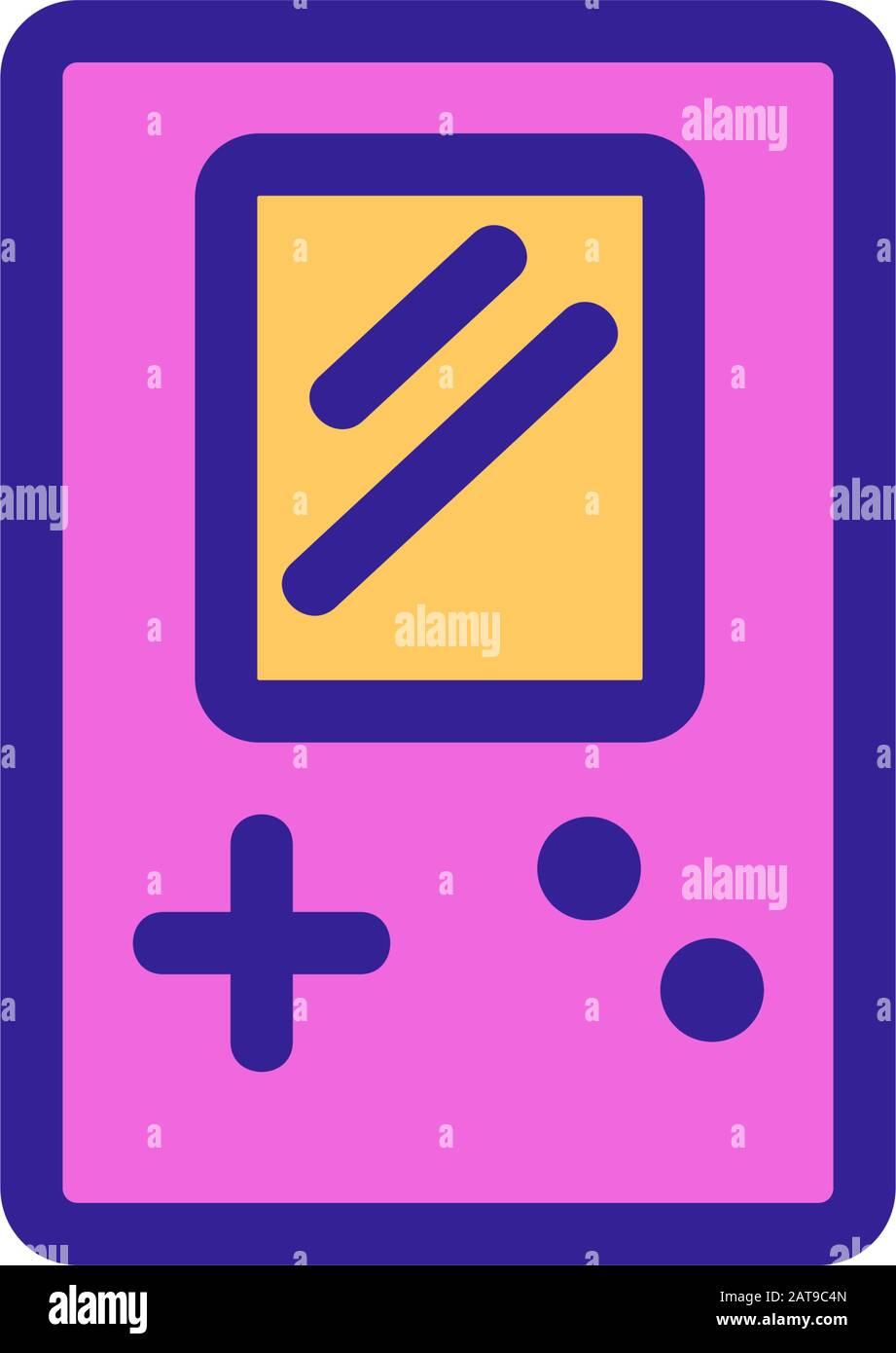 Tetris Icon Vector Isolated Contour Symbol Illustration Stock Vector Image Art Alamy
