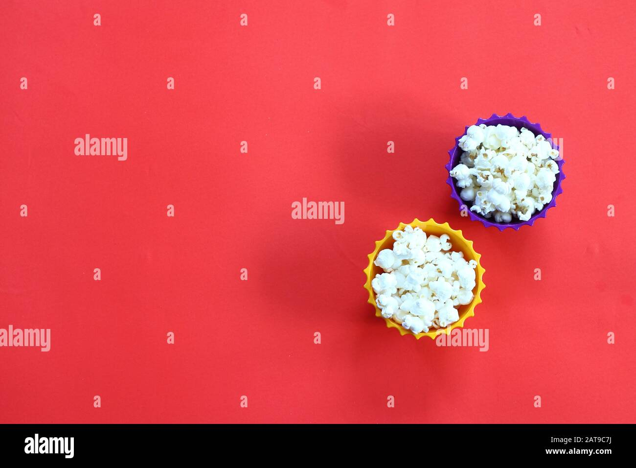 empty bowl clip art high resolution stock photography and images alamy https www alamy com glass bowl of salty popcorn on a red background top view with copy space flat lay image341955926 html
